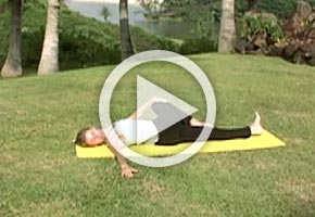 Yoga Knee Down Spinal Twist Pose